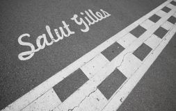 Circuit Gilles Villeneuve - starting line Royalty Free Stock Photography