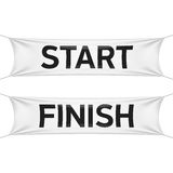 Starting and finishing lines banners vector illustration