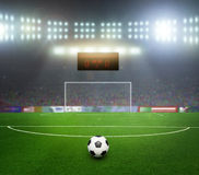 Starting a football match Stock Images