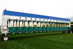 STARTING GATE. On racing track Royalty Free Stock Photo