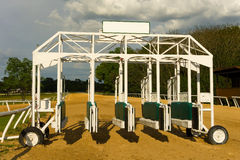 A starting gate at a breeding farm Royalty Free Stock Images