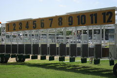 Starting gates. At the racetrack Stock Photography