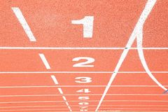 Starting grid line perspective Royalty Free Stock Photo