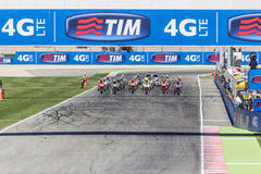 Starting grid of the MotoGP race in Misano Stock Photo