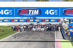 Starting grid of the MotoGP race in Misano Royalty Free Stock Photos