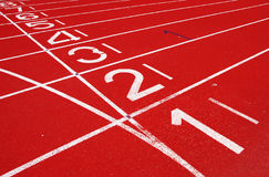Starting Grid of Race Track in Stadium. Background Royalty Free Stock Photo
