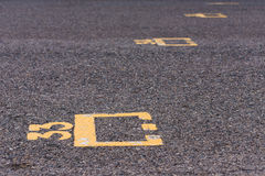 Starting grid slot on racing circuit Royalty Free Stock Photos