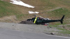 Starting Helicopter, Col De Tourmalet, France (Landscape) Stock Photo