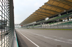 Starting line. Beginning & decisive stretch of track, named Kuala Lumpur Straight Royalty Free Stock Photos