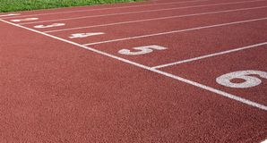 Starting Line 2. The starting line of a track field Royalty Free Stock Photography