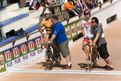 Starting Line at Asian Cycling Championships 2012 Stock Image