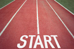 Starting Line Royalty Free Stock Photography