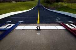 Empty track of soap box derby. Starting line at empty track of soap box derby Royalty Free Stock Photography