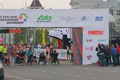On starting line handbiker. Kazan, Russia royalty free stock images