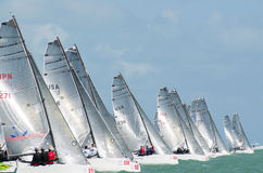 Starting line at the Melges 20 World Championships Stock Photos