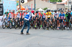 Starting Line for North Star Grand Prix stock photos