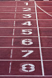 Starting line painting Royalty Free Stock Image
