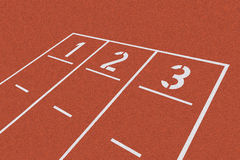 Starting line on red clay Royalty Free Stock Photography