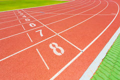 Starting Line. Red starting line with numbers Royalty Free Stock Photography