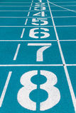 Starting line of running track Stock Images