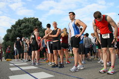 Starting line to running race Royalty Free Stock Image