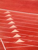 Starting Line on a Track Royalty Free Stock Photography