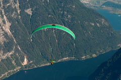 Starting paraglider Stock Images