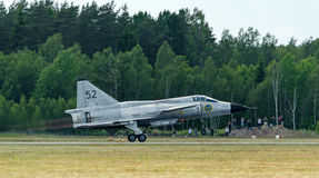 Starting phase of Saab 37 Viggen Stock Photo