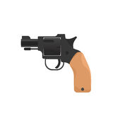 Starting pistol isolated on white background. Vector illustration Stock Image