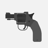 Starting pistol  on white background. Vector illustration Stock Images