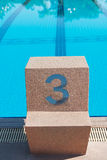 Starting place number three. Royalty Free Stock Photo