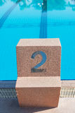 Starting place number two Royalty Free Stock Images