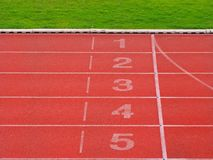 Starting point and finish line royalty free stock photos