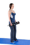 Starting position of biceps curl Royalty Free Stock Photos