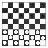 Starting position on draughts board Stock Photos