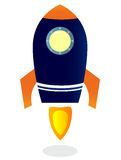 Starting Rocket ship. Vector illustrations. Stock Image