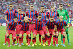 The starting team of Steaua Bucharest Royalty Free Stock Images