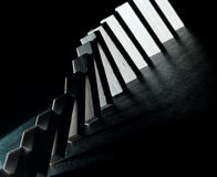 Starting The Domino Effect Royalty Free Stock Images
