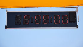 Starting timer of the running track Royalty Free Stock Image