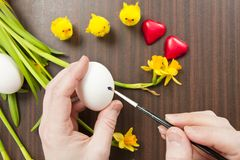 Painting Easter Egg Royalty Free Stock Photo
