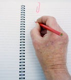Starting to write on a clean page. Royalty Free Stock Photo