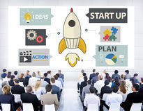 Startinnovations-Planungs-Ideen Team Success Concept Stockfotografie