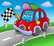 startknapp för väg för bilrace Arkivbild