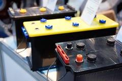 Startknapp- och dragkraftbatterier Fotografering för Bildbyråer