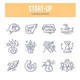 Startkrabbelpictogrammen royalty-vrije illustratie