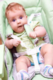 Startled baby Stock Photo