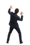 Startled businessman in formal wear Stock Images