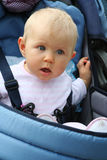 Startled child with blue eye Royalty Free Stock Images
