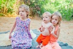 Startled children Stock Photography