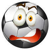 Startled facial expression football. Illustration Stock Image